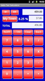 Sales Tax Discount Calculator - screenshot thumbnail
