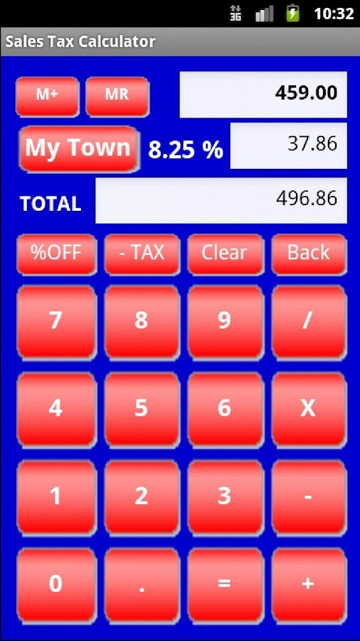 Sales Tax Discount Calculator- screenshot