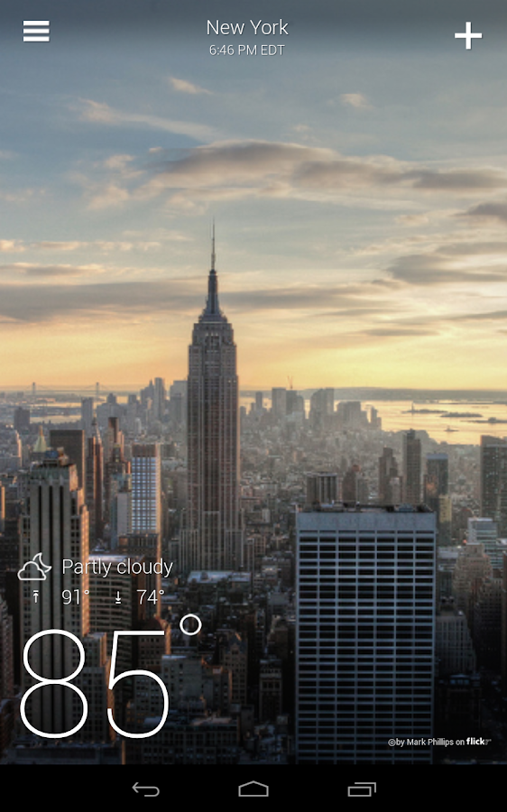 Yahoo Weather - screenshot