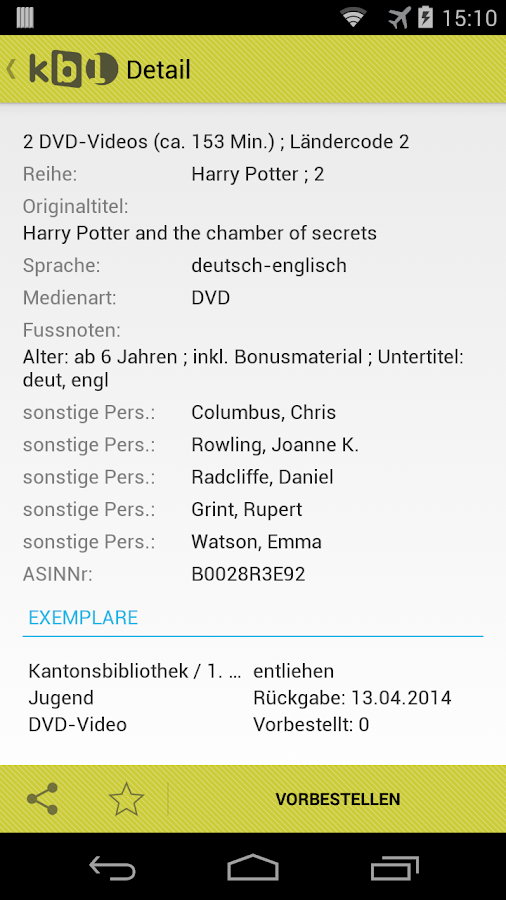 Kantonsbibliothek Baselland- screenshot