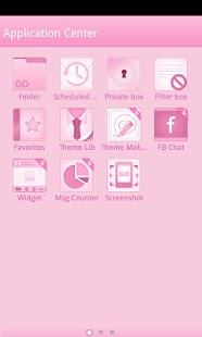 Pink GO SMS Theme - screenshot thumbnail