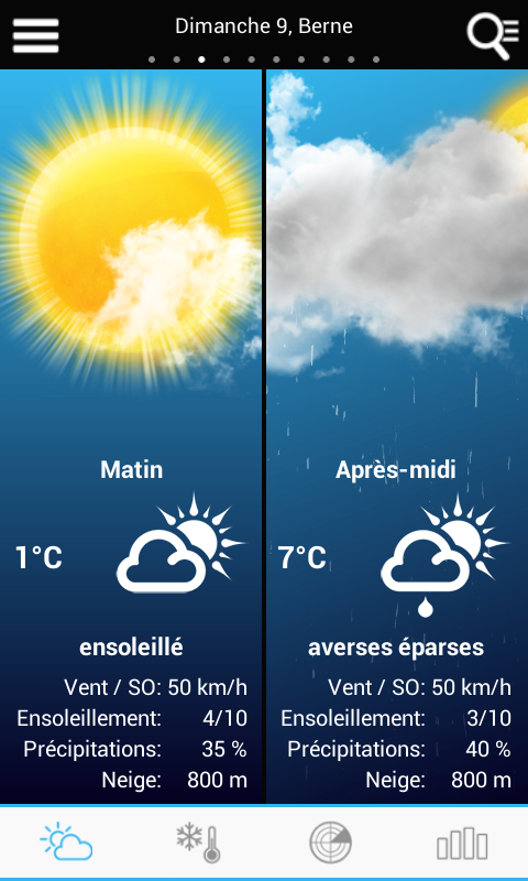 Weather for Switzerland - screenshot
