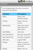 Screenshot of MySQL Pro Quick Guide Free