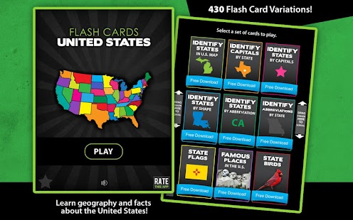 Flashcards - United States- screenshot thumbnail