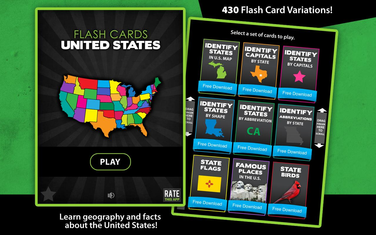 Flashcards - United States- screenshot