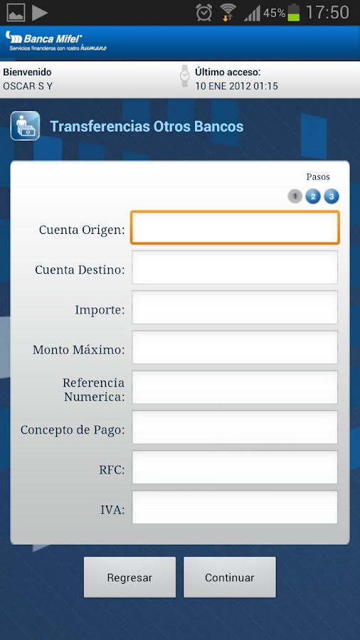 Banca Mifel - screenshot