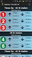 Screenshot of NYC Subway Times [MTA/BETA]