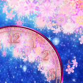 Late cherry tree clock widget