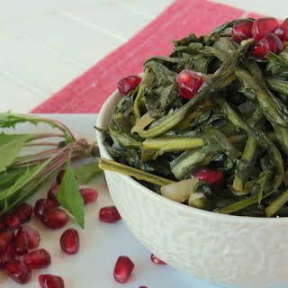 Sweet And Sour Dandelion Greens.
