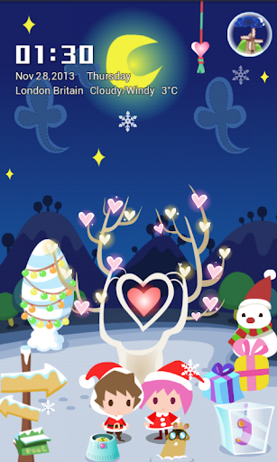 Love in Christmas Locker Theme