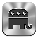 Voting Card Republican icon