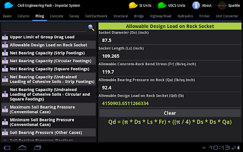 Civil Engineering Pack Tablet screenshot 1