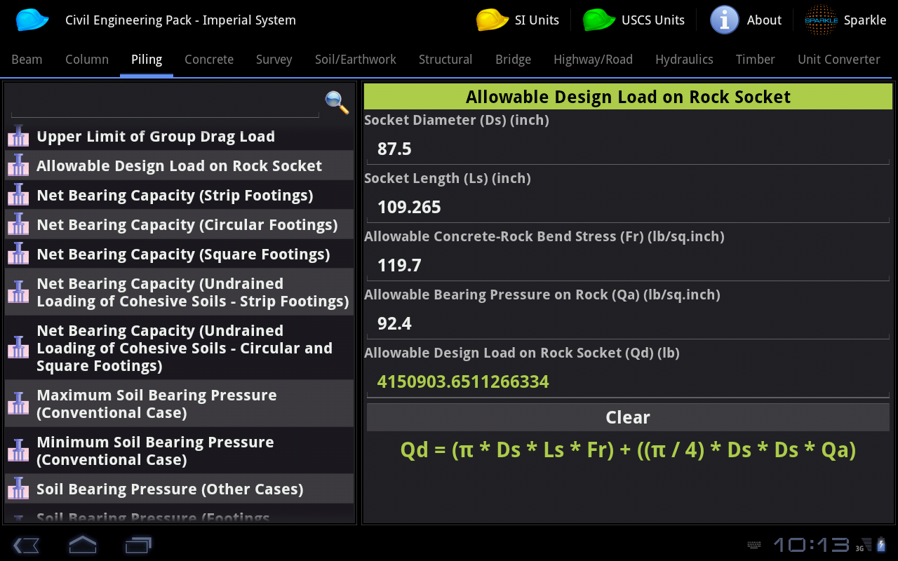 Civil Engineering Pack Tablet- screenshot