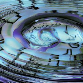 As time goes by by Angelica Glen - Digital Art Things ( water, time, numbers, clock, ripples, age,  )