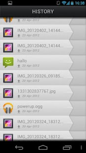 Hoccer: data sharing - screenshot thumbnail