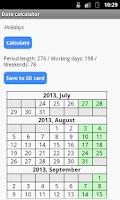 Screenshot of Date Calculator