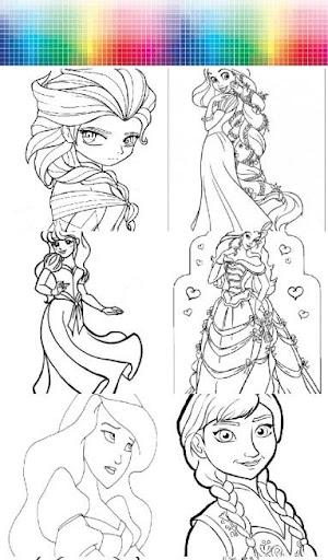 Princess - Coloring Page