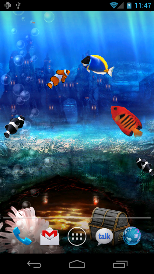 fond gratuit anim aquarium applications android sur google play. Black Bedroom Furniture Sets. Home Design Ideas