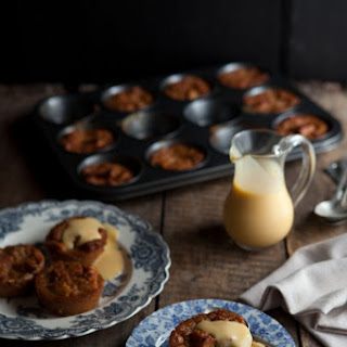 Caramel Bread Puddings With White Chocolate And Marmalade.