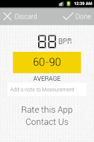 Screenshot of Cardiograph Heart Rate Monitor