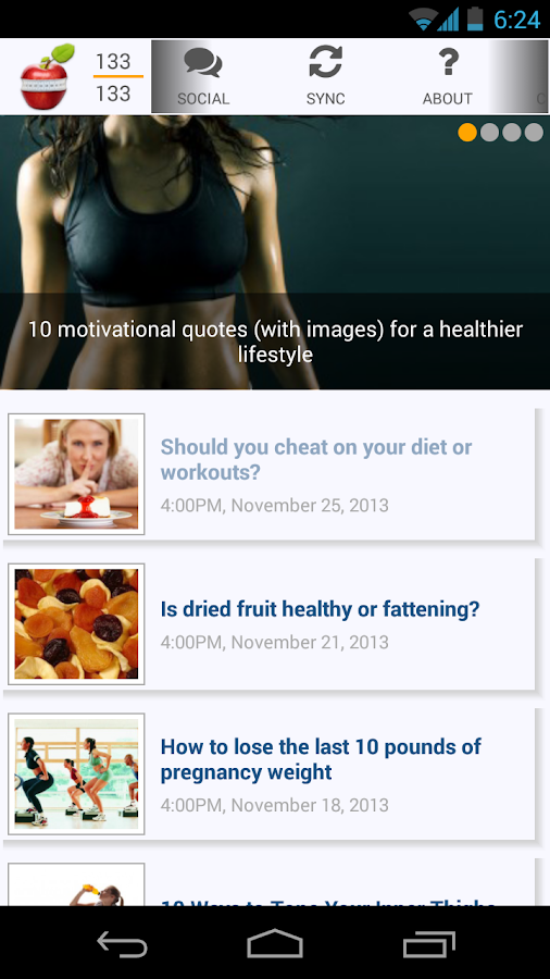 How to lose weight - screenshot