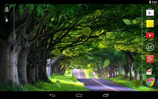 Screenshot of Falling leaves Live Wallpaper