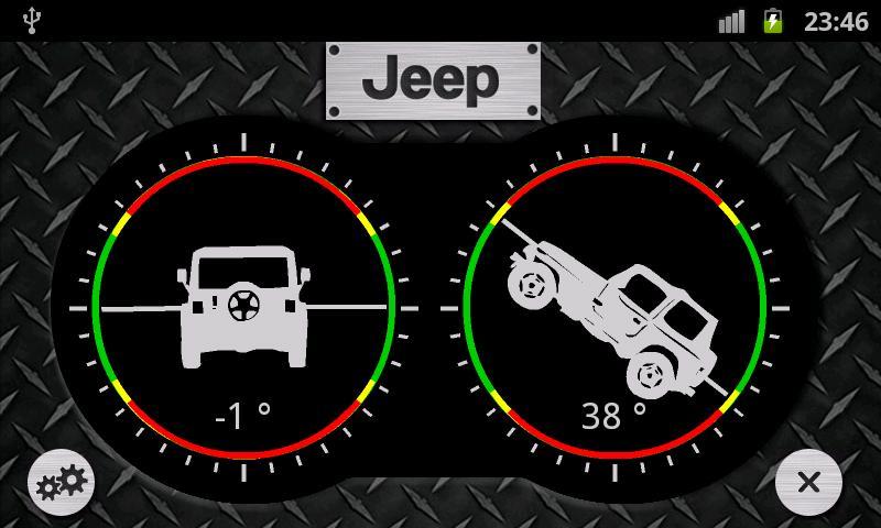 Jeep Inclinometer- screenshot