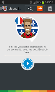 Jean, the Quebec voice (French)- screenshot thumbnail