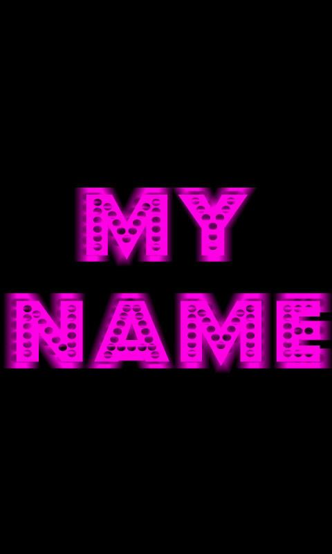 My Name Neon Live WallPaper