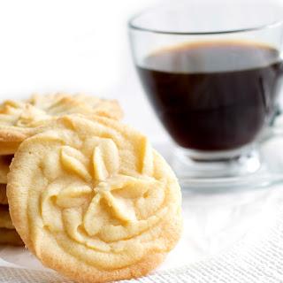 Vanilla Spritz Shortbread Cookies.