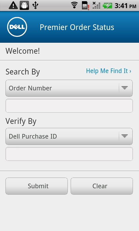 Dell Premier Order Status - screenshot
