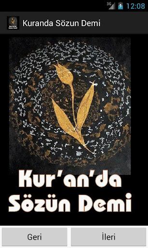Kur'an'da Sözün Demi