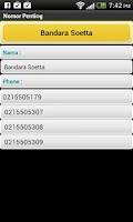 Screenshot of Nomor Penting
