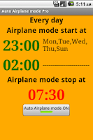 Screenshot of Auto Airplane mode Pro