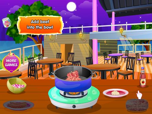 使烤寬麵條烹飪遊戲
