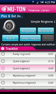 Simple Ringtone Library2 - náhled