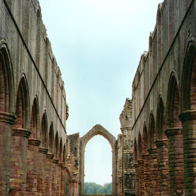 Fountains Abbey, Yorkshire by Lori Rider - Buildings & Architecture Decaying & Abandoned ( england, linear, arch, yorkshire, ruins, abbey,  )