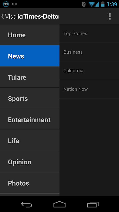 Visalia Times Delta - screenshot