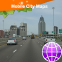Mobile. Alabama, Street Map logo