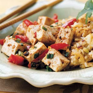 Tofu with Red Peppers and Black Bean Paste