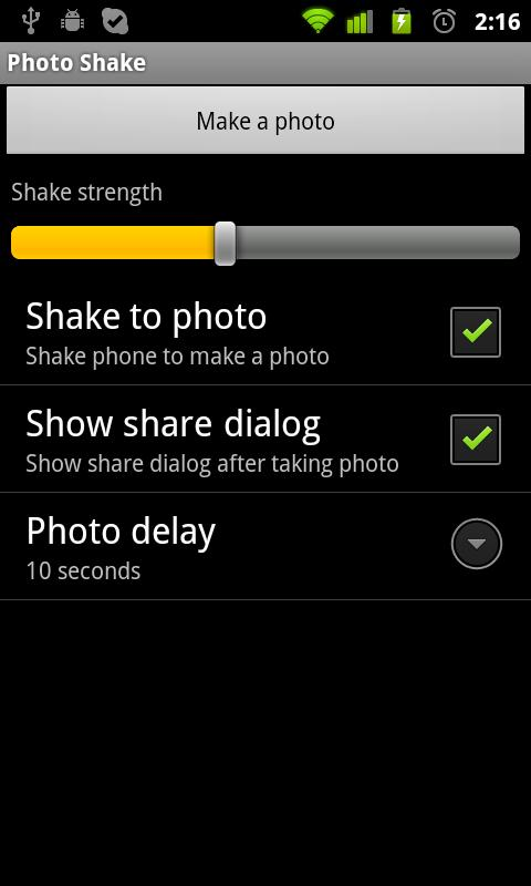 Photo Shake - screenshot