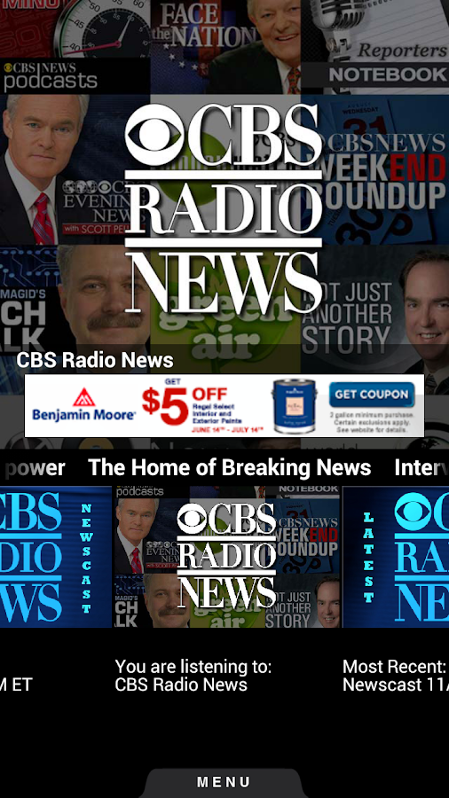 CBS Radio News - screenshot