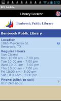 Screenshot of Benbrook Public Library Mobile