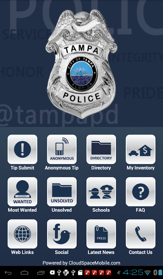 TampaPD Mobile- screenshot