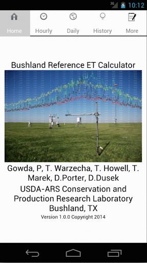 Bushland Ref. ET Calculator