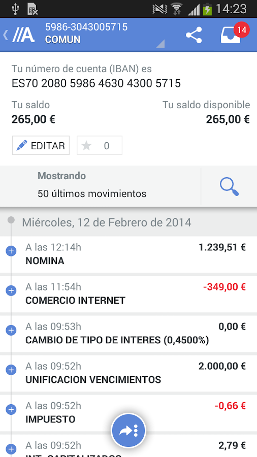 ABANCA - screenshot