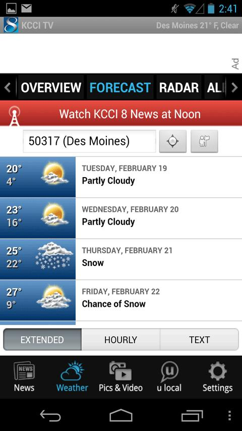 KCCI 8 TV - news and weather - screenshot
