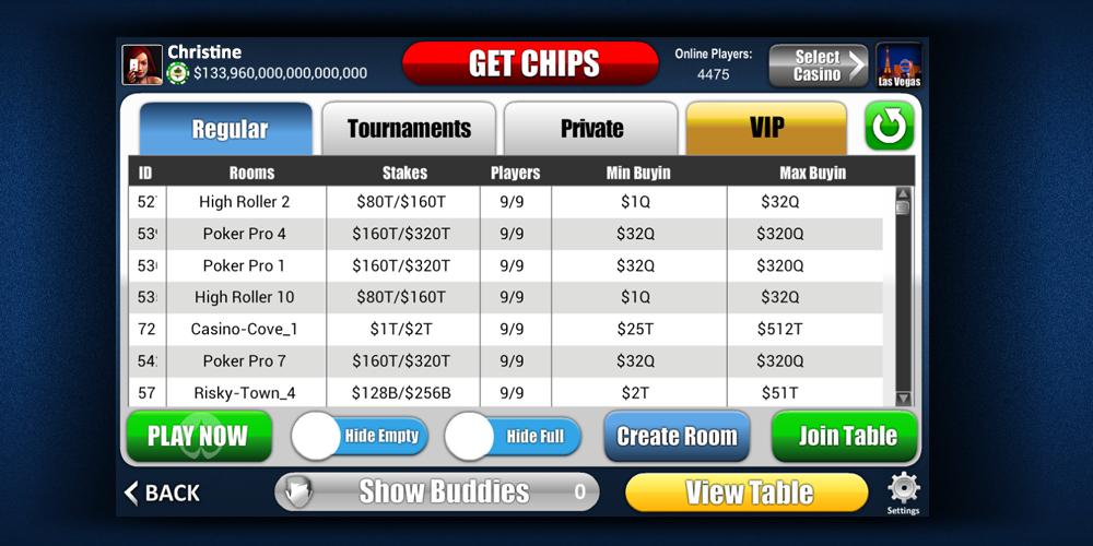 poker liste