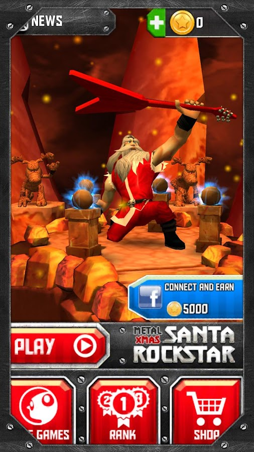 Santa Rockstar- screenshot