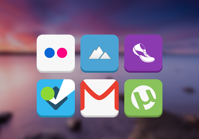 Flat Candy Icons (Apex, Nova) - screenshot